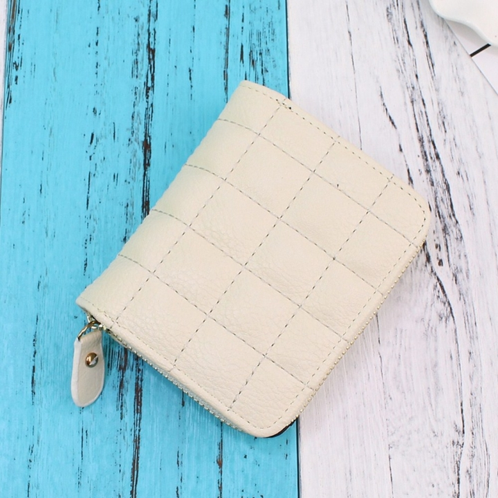 Mini Small Wallet Ms Zipper Short Section Lovely Coin Purse Student Embroidered Wallet white one size