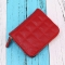 Mini Small Wallet Ms Zipper Short Section Lovely Coin Purse Student Embroidered Wallet red one size