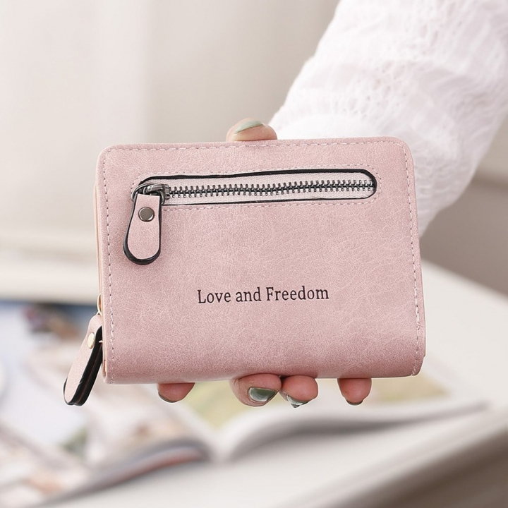 Ms Short Section wallet 2 Fold Student PU Wallet Fashion Hand Bag Fashion ladies walle one size