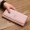 The New Purse Ms Wallet Western Style Fashion Hand Bag Female Wallet Wallet pink one size