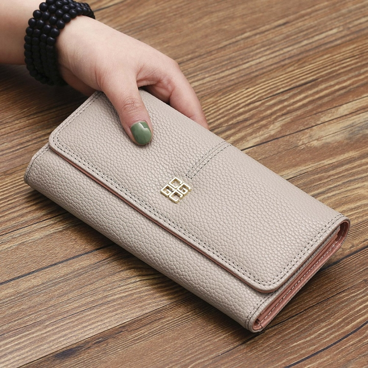 The New Purse Ms Wallet Western Style Fashion Hand Bag Female Wallet Wallet gray one size