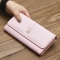The New Purse Ms Wallet Western Style Fashion Hand Bag Female Wallet Wallet ligth pink one size