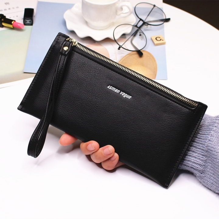 The New Hand Bag Ms wallet Long Section Zipper Quality Portable Female Wallet Package black one size