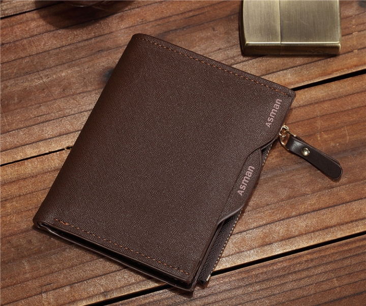 Male Wallet Driving Position Zipper Men Business Suit Male Bag Multi-card Bit Wallet coffee one size