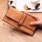 Ms Wallet Long Section Female Wallet Buckle Student Wallet Campus Style Khaki one size