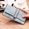 Ms Wallet Long Section Female Wallet Buckle Student Wallet Campus Style ligth green one size