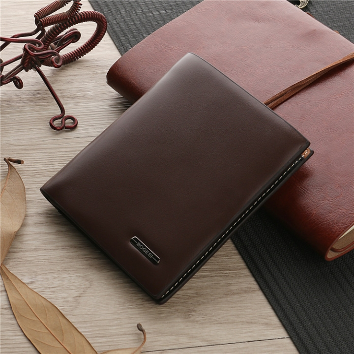 The New Trend Men Short Section Wallet Wallet Leisure Business Card Pack Student Wallet coffee 2 one size