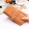 Female Long Section High Quality Scrub Stitching Ms Fashion Leisure Student Wallet brown one size