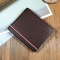 Men Cross Section Wallet Youth Business Change Wallet Ultra Thin Multi-card Bit High Quality Wallet coffee one size