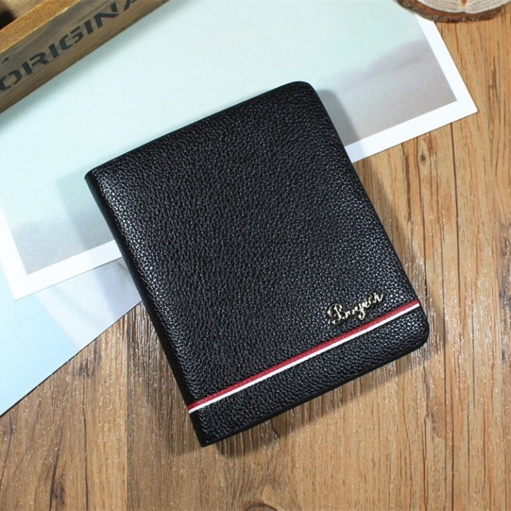 Men Cross Section Wallet Youth Business Change Wallet Ultra Thin Multi-card Bit High Quality Wallet fine lines coffee one size