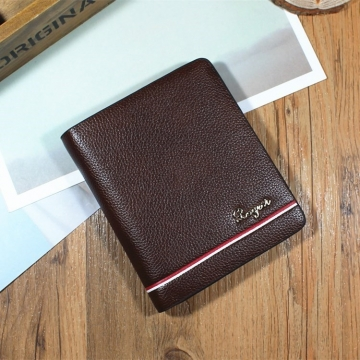 Men Cross Section Wallet Youth Business Change Wallet Ultra Thin Multi-card Bit High Quality Wallet fine lines black one size