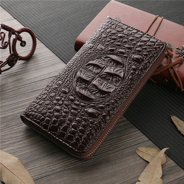 Men Wallet The New High Capacity Men Long Section Business Leisure Zipper Bag Hand Bag coffee one size