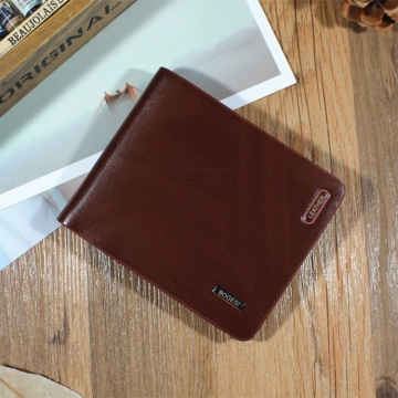 Men Wallet Short Section Ultra Thin Wallet Youth Small Wallet Men Vertical Section Ticket Holder coffee one size