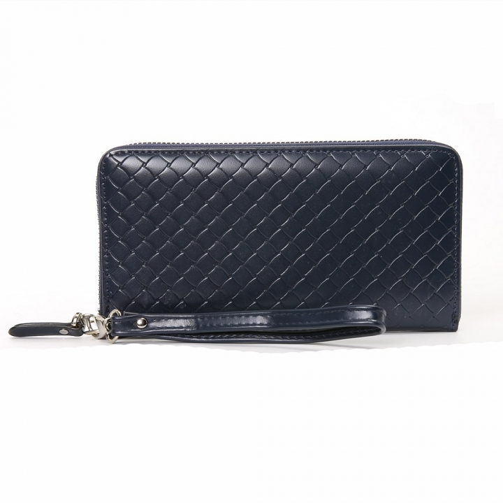 Men Long Section Wallet Business Multifunction Handbag Men High Capacity With A Hand Rope Hand Bag blue one size