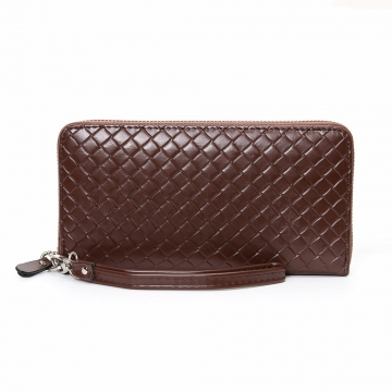 Men Long Section Wallet Business Multifunction Handbag Men High Capacity With A Hand Rope Hand Bag coffee one size