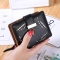 Short Section Wallet Ms Zipper Buckle Hollow Leaves Small Wallet Wallet Card Pack black one size