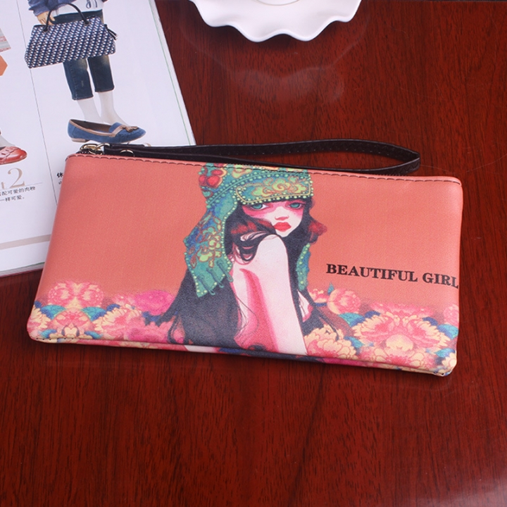 The New Graffiti Lovely Zipper High Capacity Mobile Phone Bag Hand Bag Long Section Ms Wallet 2 one size