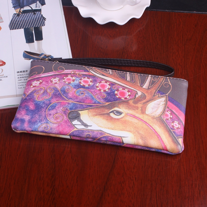 The New Graffiti Lovely Zipper High Capacity Mobile Phone Bag Hand Bag Long Section Ms Wallet 5 one size