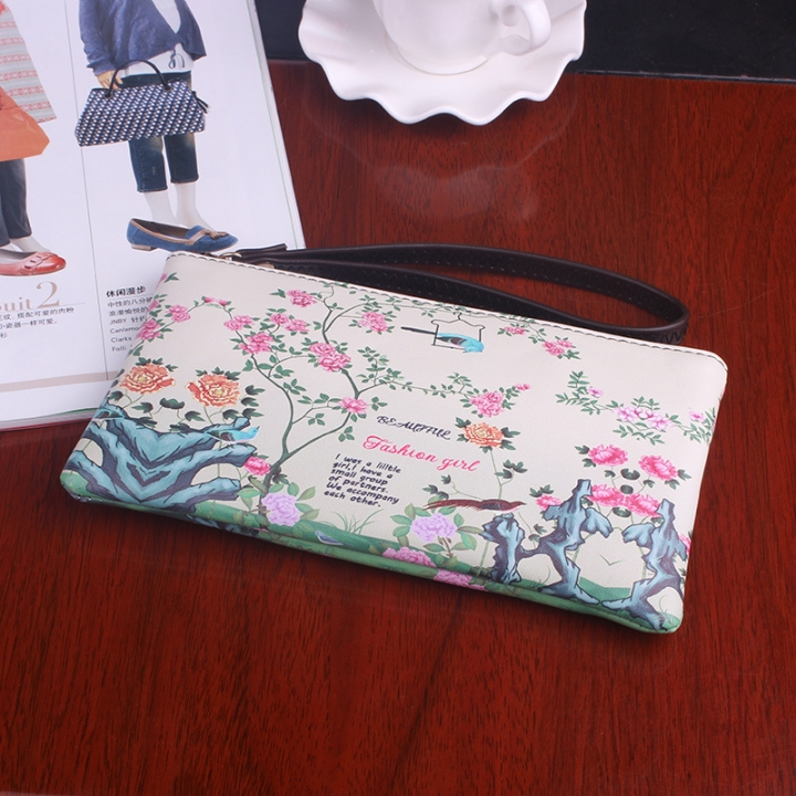 The New Graffiti Lovely Zipper High Capacity Mobile Phone Bag Hand Bag Long Section Ms Wallet 8 one size