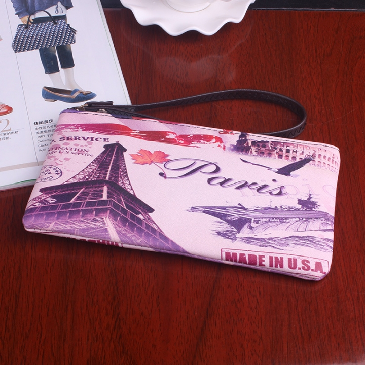 The New Graffiti Lovely Zipper High Capacity Mobile Phone Bag Hand Bag Long Section Ms Wallet 9 one size