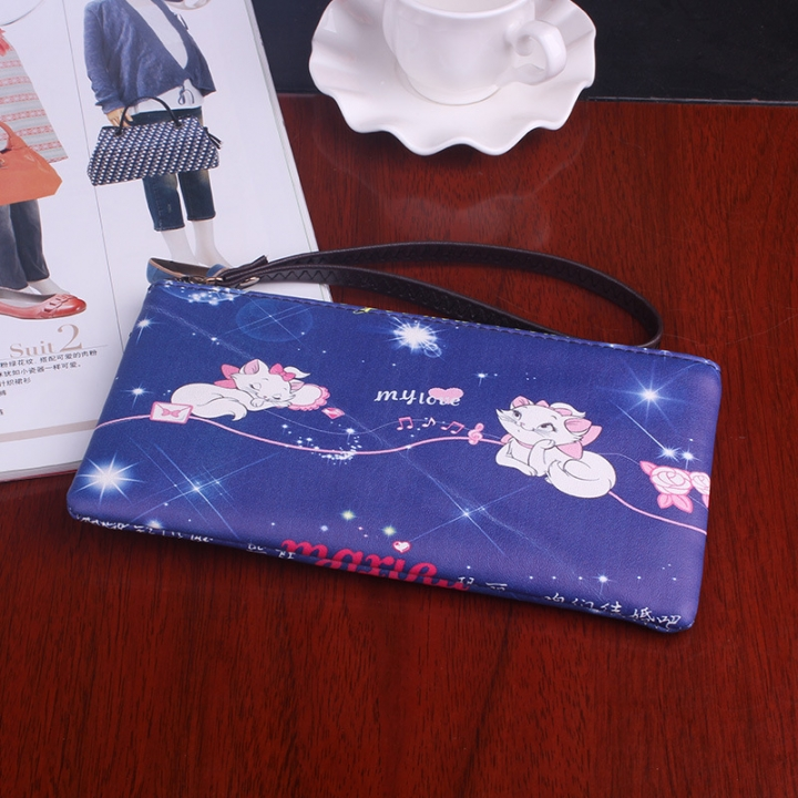 The New Graffiti Lovely Zipper High Capacity Mobile Phone Bag Hand Bag Long Section Ms Wallet 10 one size