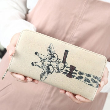 The New Ms Wallet Long Section Lovely Cartoon Zipper Long Section Female Wallet 1 one size