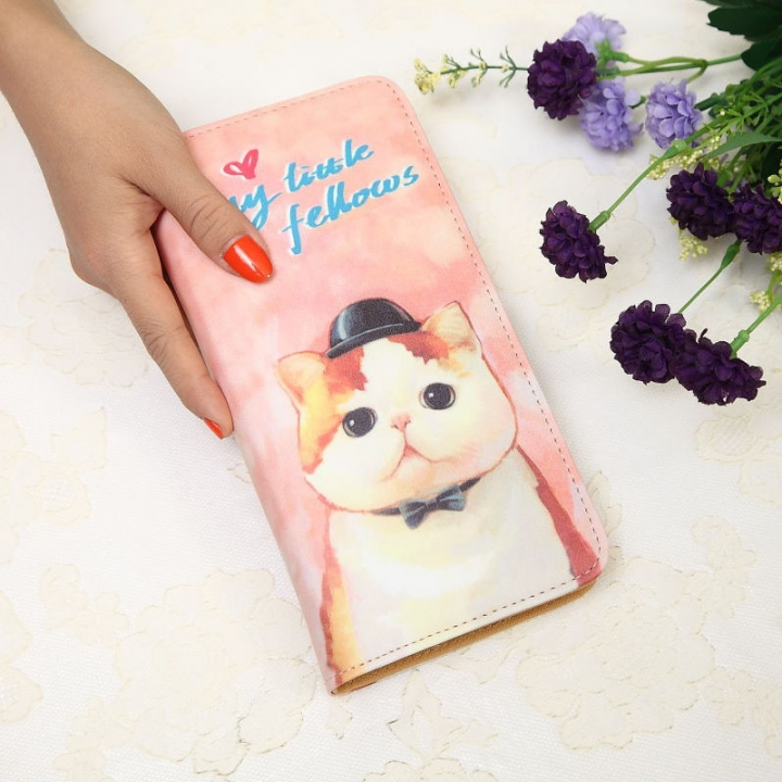 The New Ms Wallet Long Section Lovely Cartoon Zipper Long Section Female Wallet 3 one size