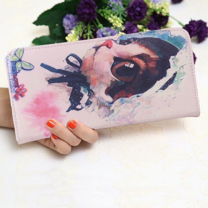 The New Ms Wallet Long Section Lovely Cartoon Zipper Long Section Female Wallet 4 one size