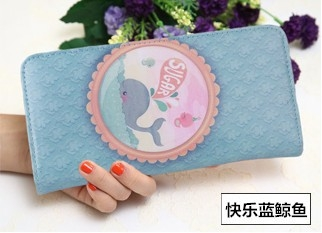 The New Ms Wallet Long Section Lovely Cartoon Zipper Long Section Female Wallet 7 one size