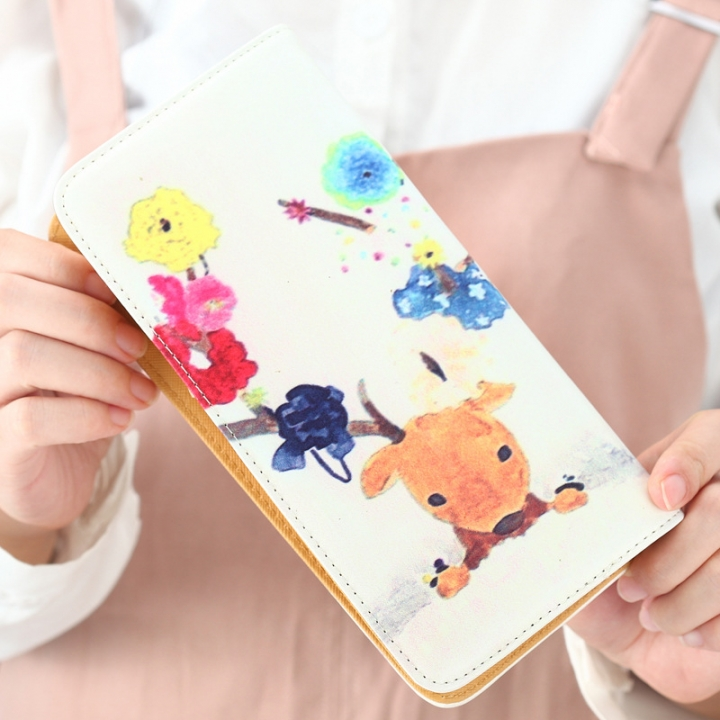 The New Ms Wallet Long Section Lovely Cartoon Zipper Long Section Female Wallet 8 one size
