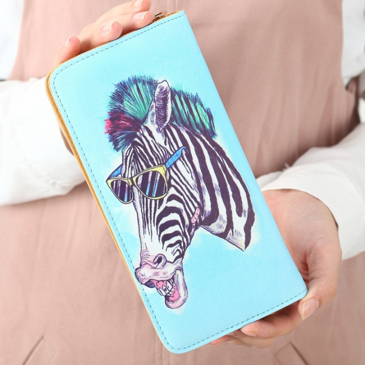 The New Ms Wallet Long Section Lovely Cartoon Zipper Long Section Female Wallet 10 one size