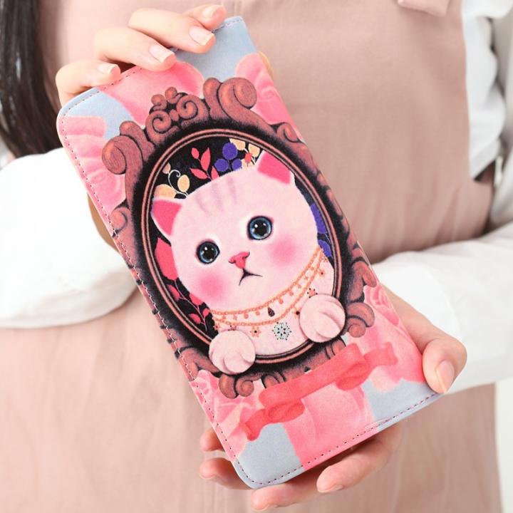 The New Ms Wallet Long Section Lovely Cartoon Zipper Long Section Female Wallet 11 one size