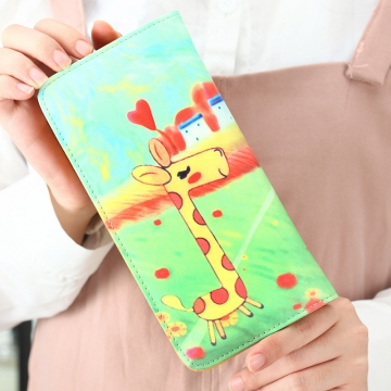The New Ms Wallet Long Section Lovely Cartoon Zipper Long Section Female Wallet 12 one size