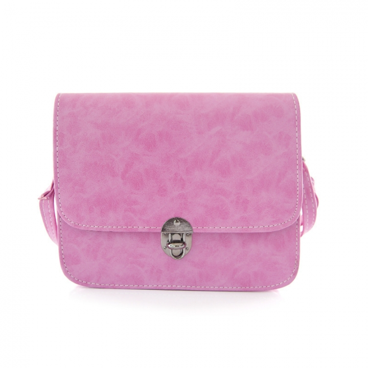 Lady Bags Trend Retro Small Square Bag Shoulder Oblique Cross Simple Fashion Student Bag rose red one size