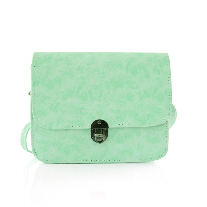 Lady Bags Trend Retro Small Square Bag Shoulder Oblique Cross Simple Fashion Student Bag green one size
