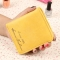 The New Scrub Wallet Short Section Ms Wallet Ultra-thin Models Mini Coin Purse Female Pickup Bag yellow one size