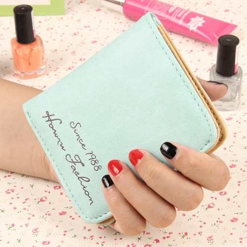 The New Scrub Wallet Short Section Ms Wallet Ultra-thin Models Mini Coin Purse Female Pickup Bag ligth green one size
