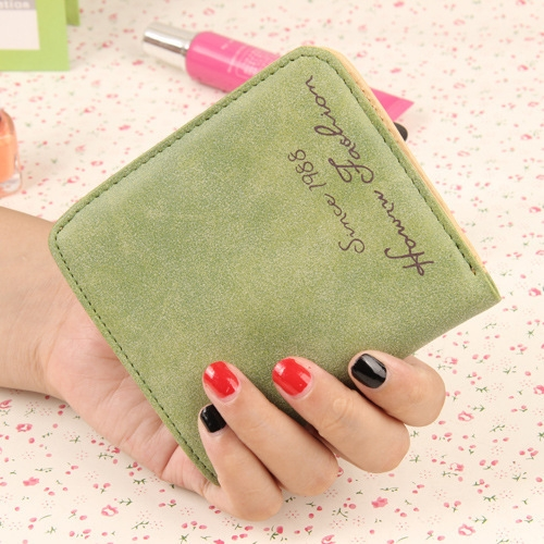 The New Scrub Wallet Short Section Ms Wallet Ultra-thin Models Mini Coin Purse Female Pickup Bag green one size
