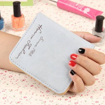 The New Scrub Wallet Short Section Ms Wallet Ultra-thin Models Mini Coin Purse Female Pickup Bag ligth blue one size