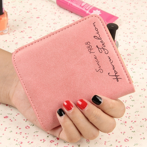 The New Scrub Wallet Short Section Ms Wallet Ultra-thin Models Mini Coin Purse Female Pickup Bag watermelon red one size