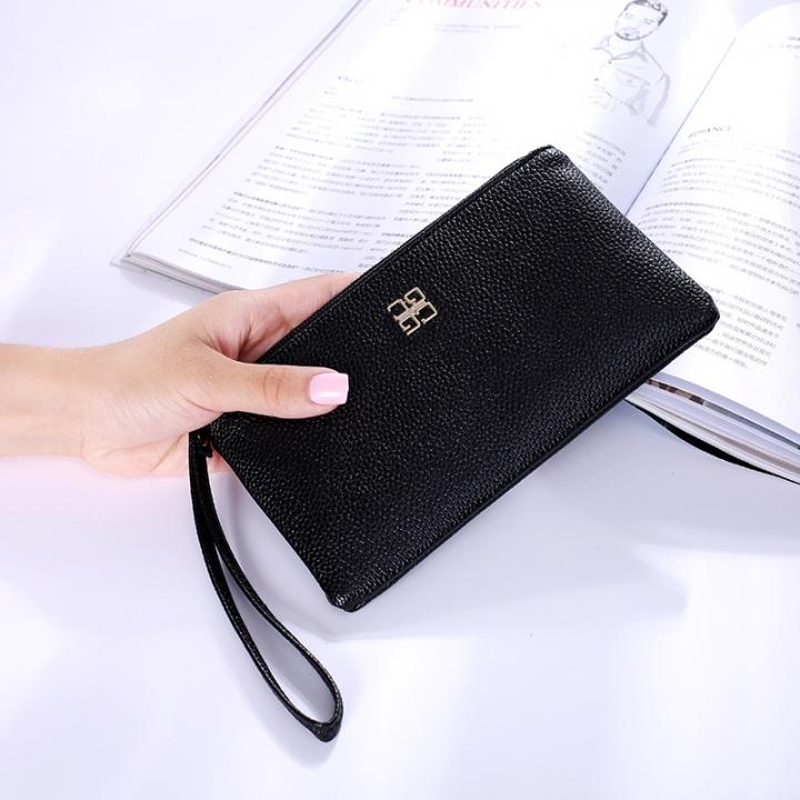 Ms Wallet Fashion Mobile Phone Bag Wallet Zipper Trend Leisure Hand Bag black one size