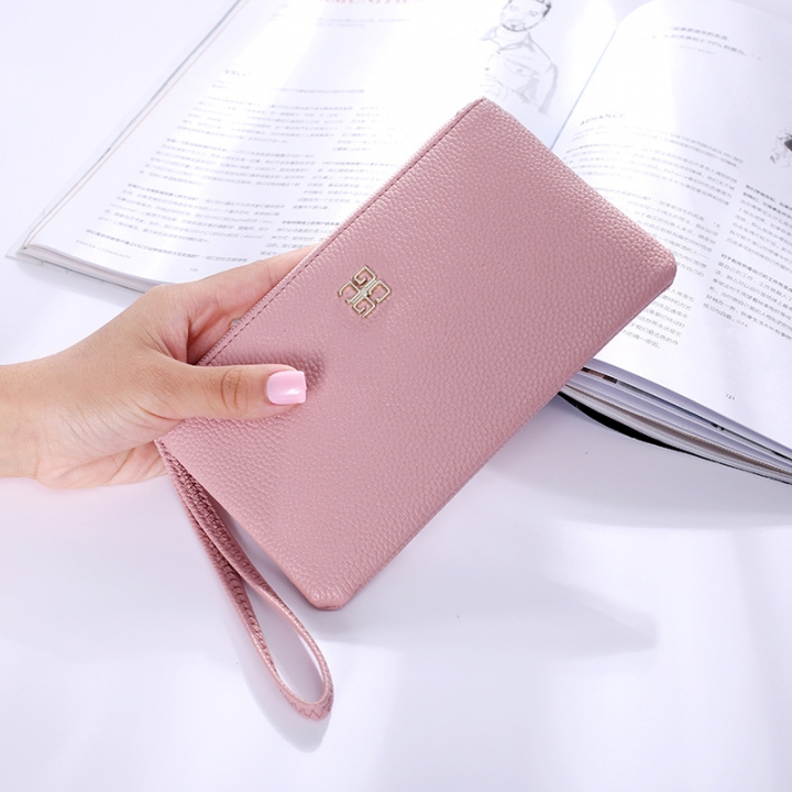 Ms Wallet Fashion Mobile Phone Bag Wallet Zipper Trend Leisure Hand Bag pink one size