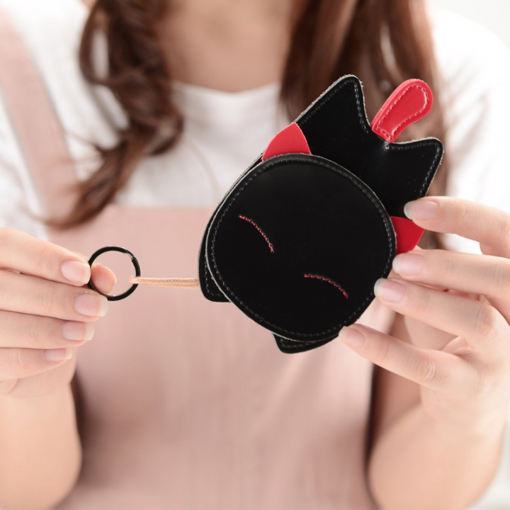 The New Lovely Ms Creative Cat Key Bag Key Ring Pendant Car Key Chain black one size
