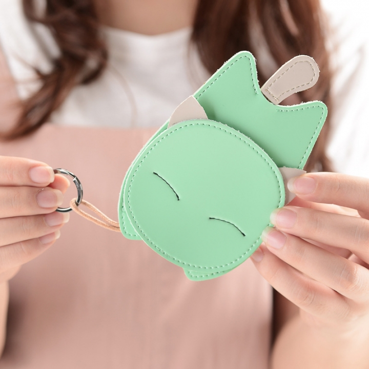 The New Lovely Ms Creative Cat Key Bag Key Ring Pendant Car Key Chain green one size