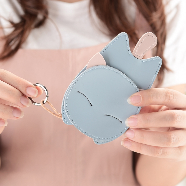 The New Lovely Ms Creative Cat Key Bag Key Ring Pendant Car Key Chain blue one size