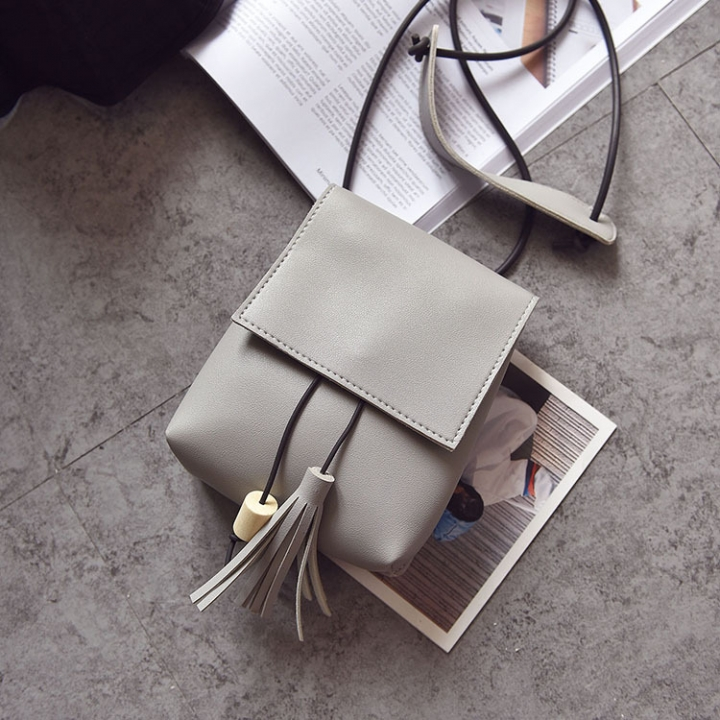 Small Square Bag Ms Oblique Cross Fashion Lady Bags Retro Shoulder Bags Messenger Bag gray one size