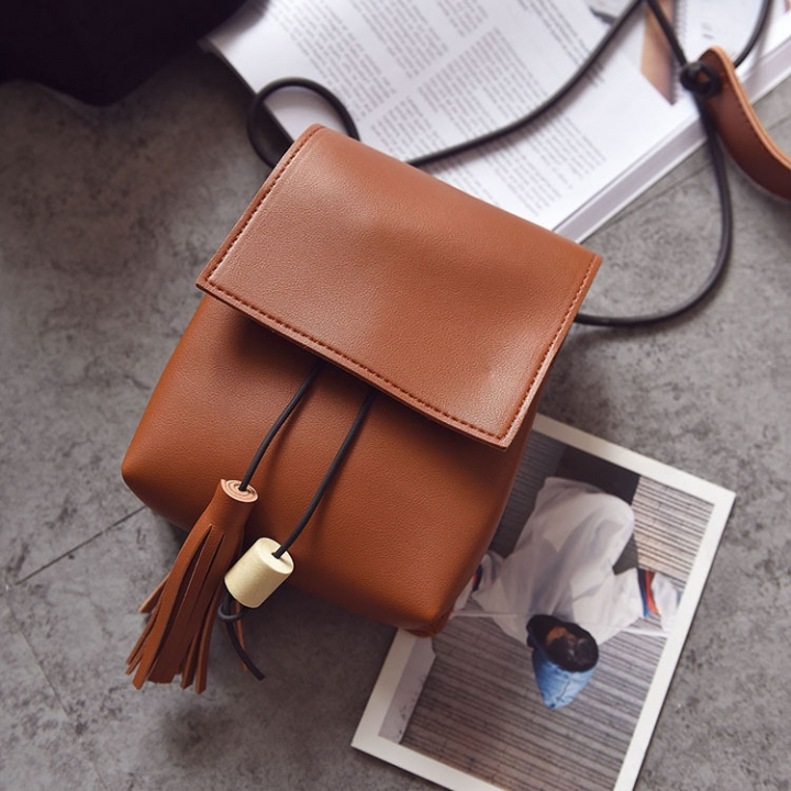 Small Square Bag Ms Oblique Cross Fashion Lady Bags Retro Shoulder Bags Messenger Bag brown one size