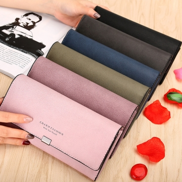 Ms Wallet Long Section Student Clamshell Simple Multifunction Leisure Female Wallet gray one size