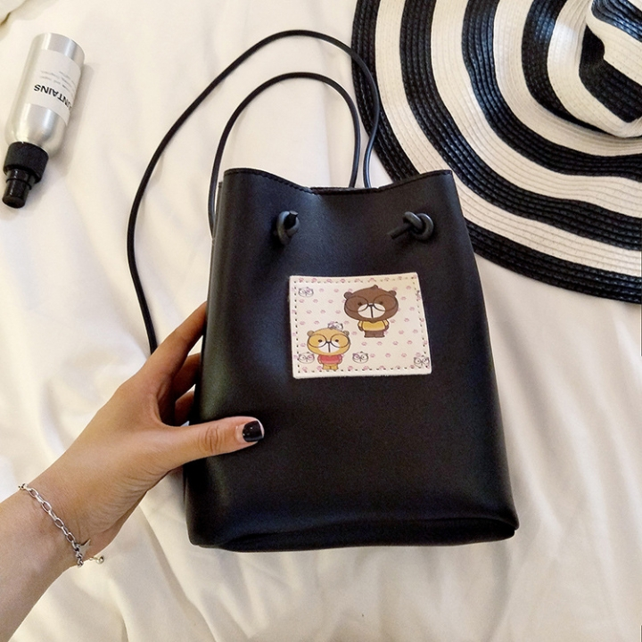 The New Small Square bag Mobile Phone bag Shoulder Oblique Cross Package Fashion Leisure Coin Purse black one size