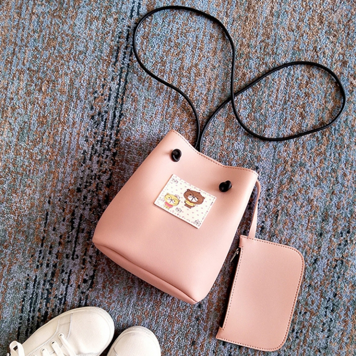 The New Small Square bag Mobile Phone bag Shoulder Oblique Cross Package Fashion Leisure Coin Purse pink one size